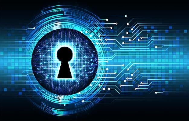 デジタル背景、サイバーセキュリティに南京錠を閉鎖