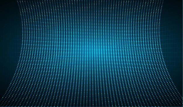 Светодиодный синий экран кинотеатра для презентации фильма.