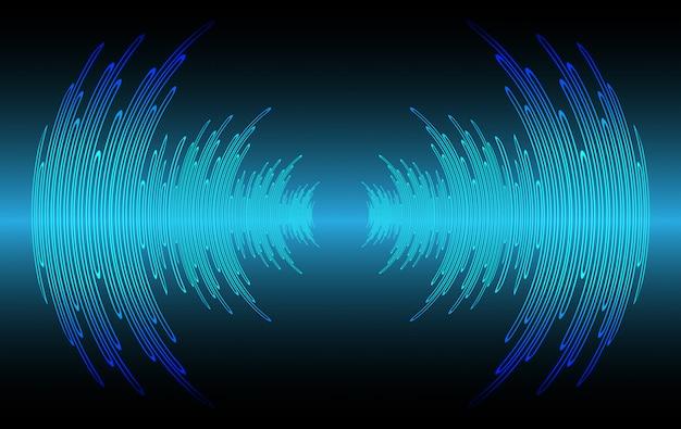 暗い青色の光を振動させる音波