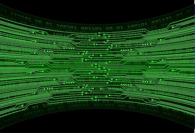 緑のサイバー回路の将来の技術コンセプトの背景