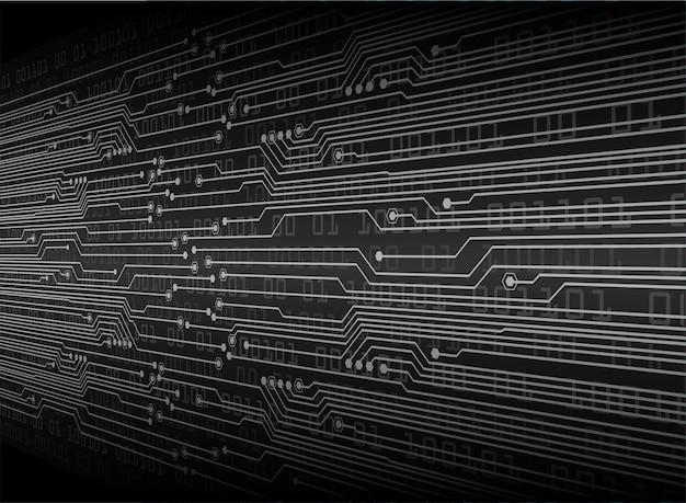 黒のサイバー回路の将来の技術コンセプトの背景