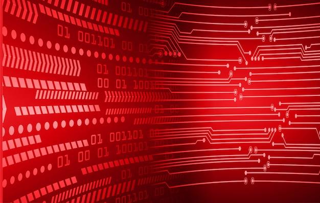 赤いサイバー回路の将来の技術概念の背景