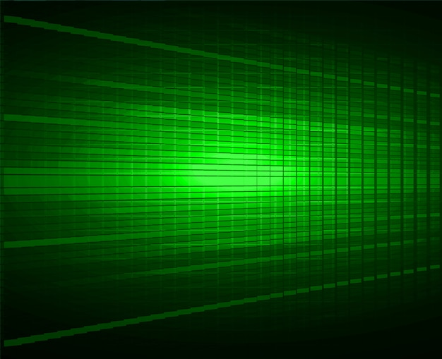 Зеленый светодиодный фон экрана кино. легкая абстрактная технология
