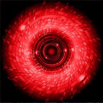 Красный глаз кибер схема будущей технологии концепции фон