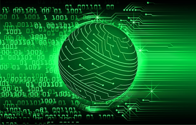 緑の世界サイバー回路の将来の技術の背景