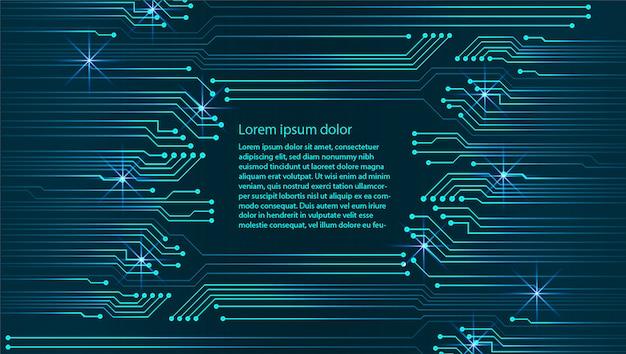 テキストボックステンプレート、物事のサイバーテクノロジー、セキュリティの背景のインターネット