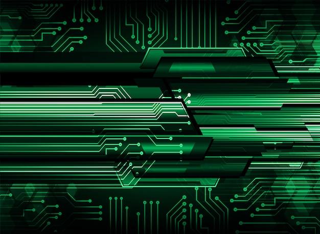 Зеленый кибер цепи фон