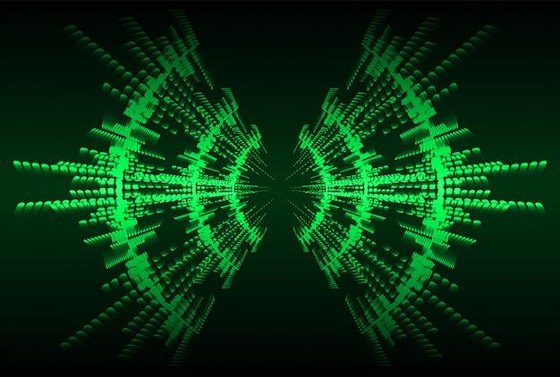 Звуковые волны, колеблющиеся темно-зеленый светлый фон