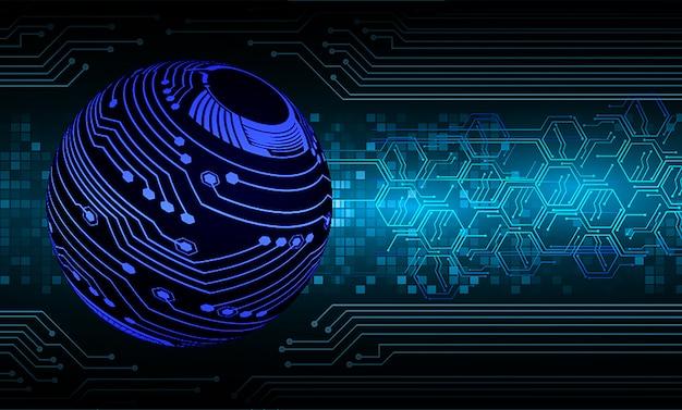 Синий мир кибер цепи будущей технологии концепции фон