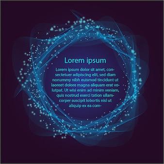 Синий круг абстрактный фон в будущем для текста