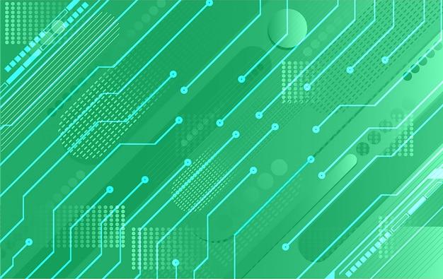 Зеленый кибер цепи будущей технологии концепции фон