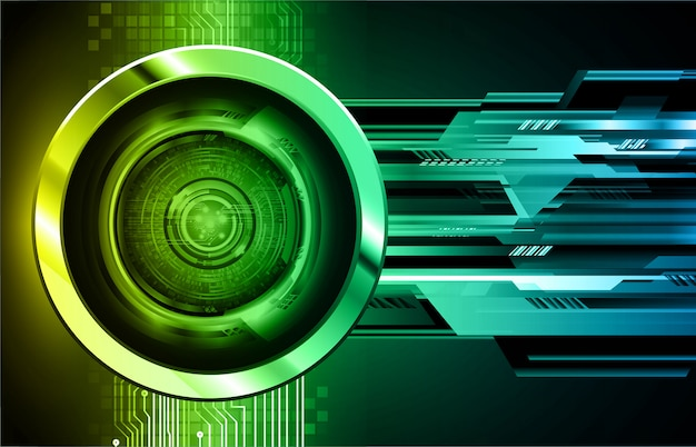 Красочный фон кибер цепи