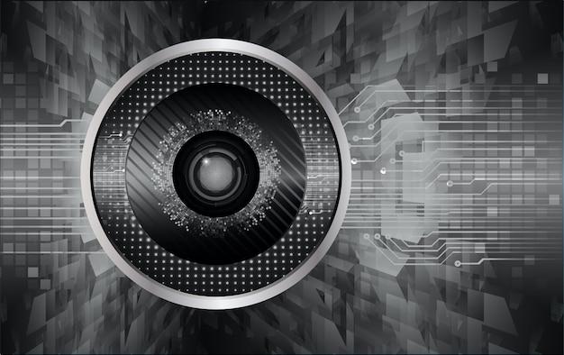 黒い目サイバー回路未来技術の背景