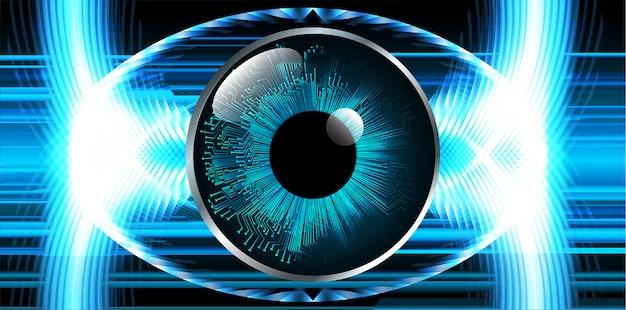 青い目サイバー回路の将来の技術コンセプト