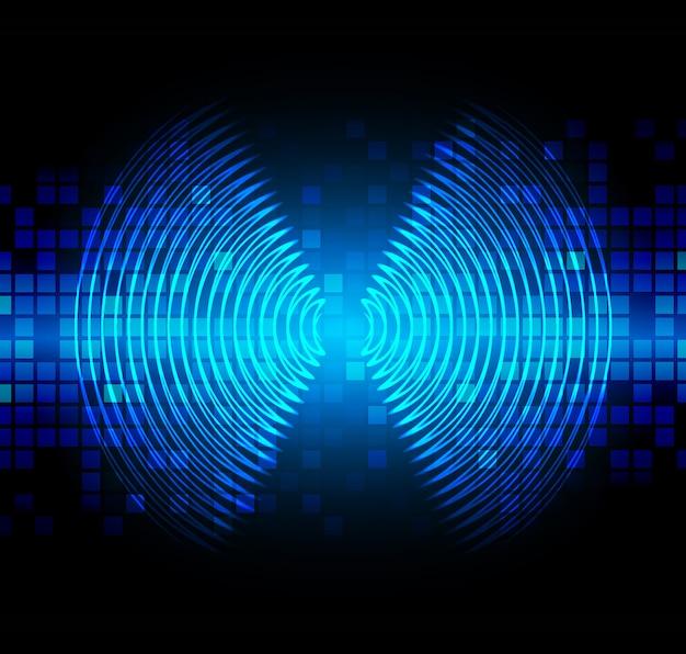 暗緑色の光を振動させる音波