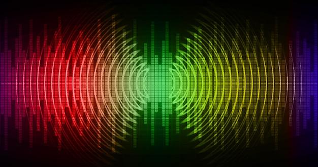暗赤色、黄色、緑色の光を発振する音波