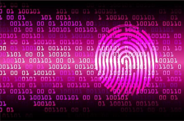 Отпечаток пальца сети кибер-безопасности фон.