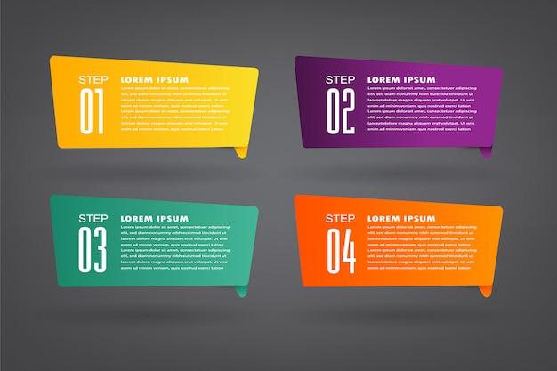 Шаблон текстового поля современной бумаги, баннер инфографики, речи пузырь