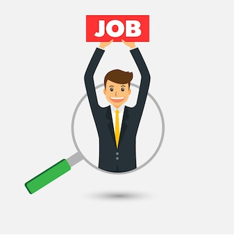 仕事のコンセプト、ビジネスマンのための適切な人を見つける