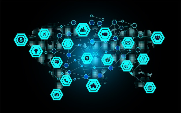 世界のサイバーテクノロジーのインターネット