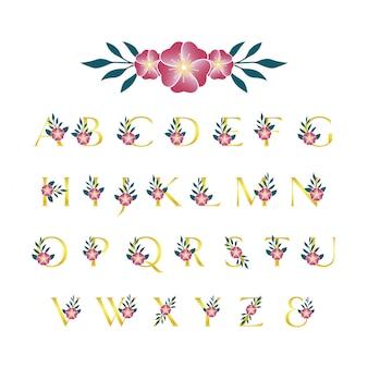 Цветочный шрифт