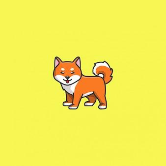 かわいい柴犬のベクトル