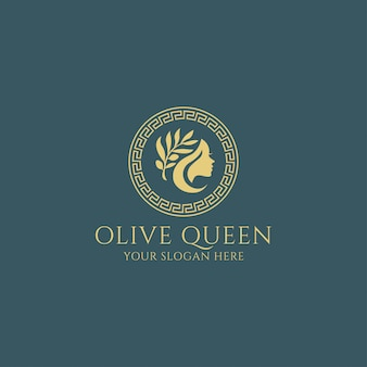 Оливковая королева богиня премиум логотип