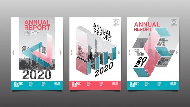 Годовой отчет, полигон, геометрический, дизайн макета, обложка книги.