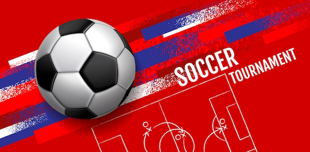 Футбольный турнир, шаблон спортивного макета