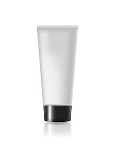 ブラックスクリューキャップを備えた空白の化粧管。