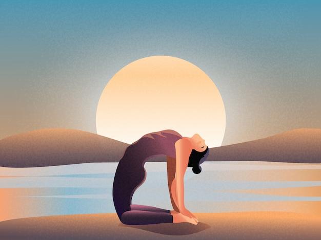 自然による朝の瞑想。