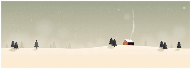 冬の田舎の風景