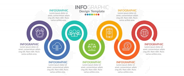 アイコンとオプションや手順のビジネスコンセプトのインフォグラフィック。