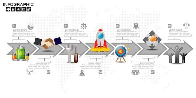 Бизнес инфографики элементы шаблона.