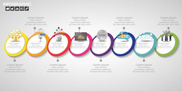 Хронология инфографика дизайн шаблона