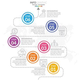 Инфографики элементы со значком и опцией.