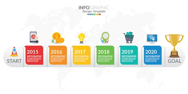コンテンツ、図、フローチャート、ステップ、部品、タイムライン、ワークフロー、グラフのインフォグラフィック要素。