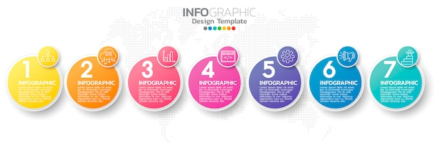 Шаблон элемента красочные инфографики