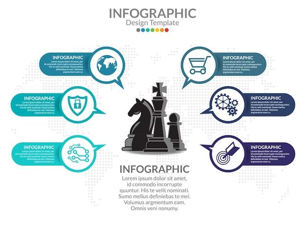 Инфографическая диаграмма с шагами, параметрами, частями или процессами. диаграмма процесса.