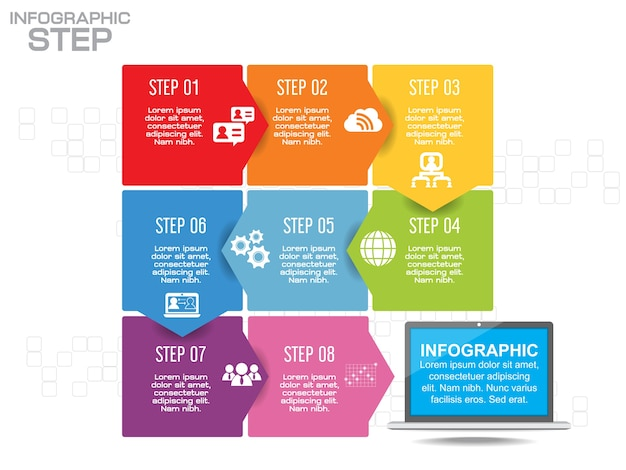 ビジネスインフォグラフィックタイムラインテンプレート