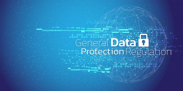 サイバーセキュリティと情報またはネットワーク保護の抽象的な背景。