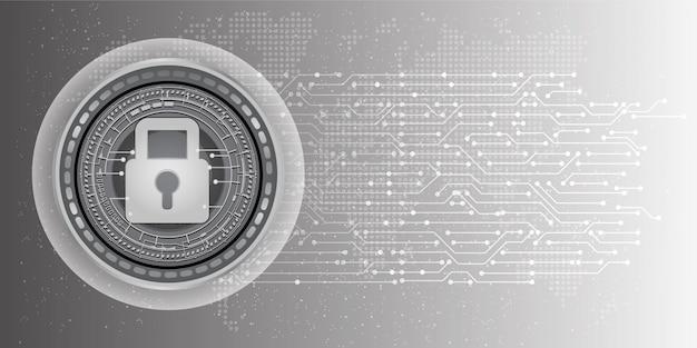 Абстрактный фон кибербезопасности и информации или защиты сети.