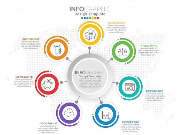 アイコンとオプションのビジネスコンセプトのインフォグラフィック