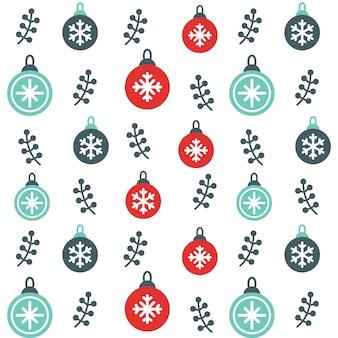 クリスマスオーナメント雪シームレスなパターンの背景