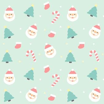 クリスマスシームレスなパターンの背景