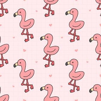 Симпатичные фламинго бесшовные узор фона