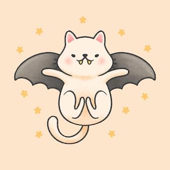飛ぶコウモリ猫