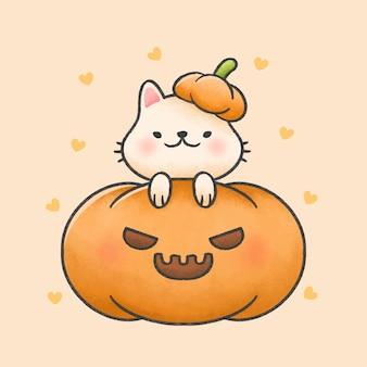 かぼちゃの猫