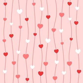 Сердце и линия бесшовные фон шаблон