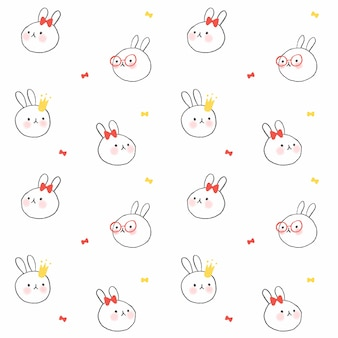 Кролик бесшовные фон шаблон
